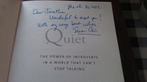 Signed Title Page of Quiet
